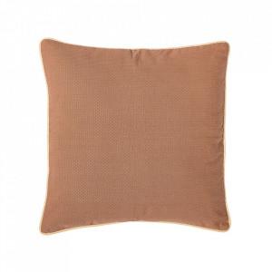 Perna decorativa patrata maro din bumbac si poliester 50x50 cm Ava Bloomingville