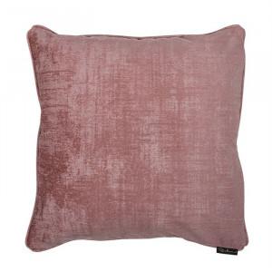 Perna decorativa patrata roz din poliester 45x45 cm Jowi Richmond Interiors