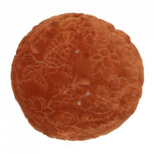 Perna decorativa rotunda maro din catifea 45 cm Graceful Be Pure Home