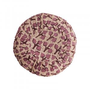 Perna decorativa rotunda multicolora din bumbac si fibre 45 cm Moritz Rose Madam Stoltz