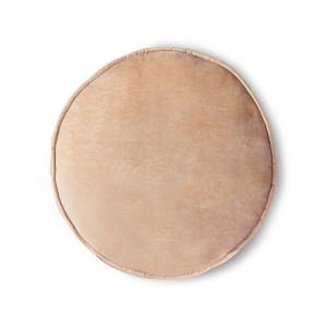Perna sezut rotunda roz piersica din catifea 60 cm Nicolas HK Living