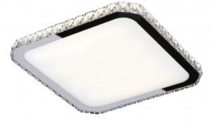 Plafoniera LED argintie din metal si sticla Prezzio Square Ceiling Maxlight