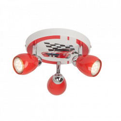 Plafoniera multicolora din metal cu 3 LED-uri Racing Brilliant