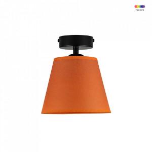 Plafoniera portocalie/neagra din hartie si otel Iro Bright Orange Sotto Luce
