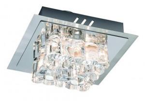 Plafoniera transparenta/argintie din metal si sticla cu 4 becuri Karradal Markslojd
