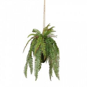 Planta artificiala cu ghiveci suspendabil 58 cm Fern Woood