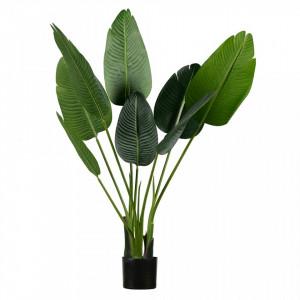 Planta artificiala verde cu ghiveci 108 cm Strelitzia Woood
