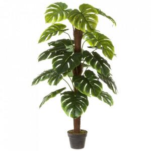 Planta artificiala verde/neagra din polietilena 150 cm Monstera Unimasa