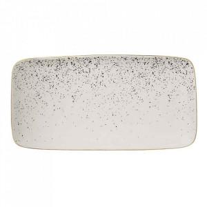 Platou alb din ceramica 15x30 cm Venus Bloomingville