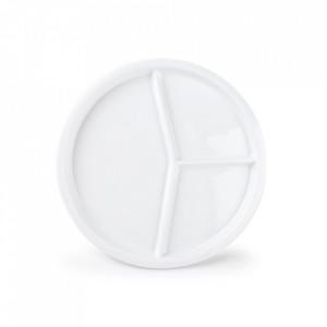 Platou alb din portelan pentru aperitive 23 cm Appetite Aerts