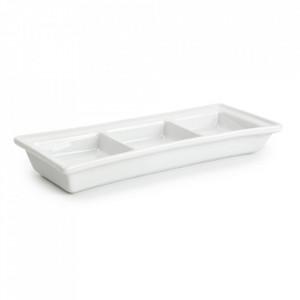 Platou alb din portelan pentru aperitive 7,5x18,7 cm Flavor Aerts