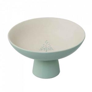 Platou alb/verde din ceramica 19 cm Lucia Bloomingville