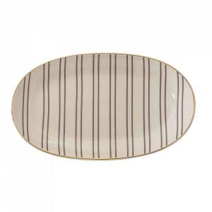 Platou crem din ceramica 13x21,5 cm Ava Bloomingville