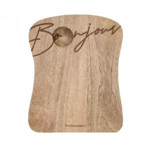Platou maro din lemn de mango 16x20 cm Garris Riviera Maison