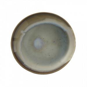 Platou multicolor rotund din ceramica 21,5 cm Heather Creative Collection