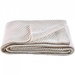 Pled alb din lana 130x180 cm Soft Collection Bolia