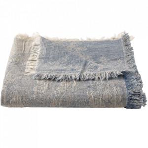 Pled albastru din textil 140x190 cm Shore Bolia