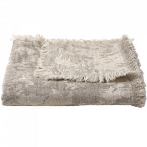 Pled gri deschis din textil 140x190 cm Shore Bolia