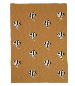 Pled multicolor din bumbac 80x100 cm Fruiticana Stripy Fish Ferm Living
