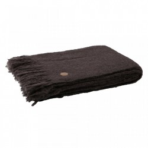 Pled rosu burgund din lana si fibre acrilice 130x170 cm Sense Burgundy Be Pure Home
