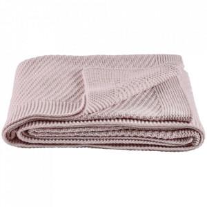 Pled roz din lana 130x180 cm Soft Collection Bolia