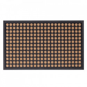 Pres dreptunghiular maro/negru din polipropilena pentru intrare 45x75 cm Nonan Lako