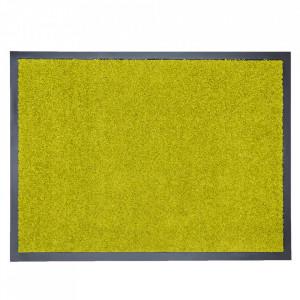 Pres dreptunghiular verde din poliamida pentru intrare 40x60 cm Continental Lako