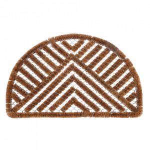 Pres oval maro din fibre de cocos pentru intrare 45x75 cm Cocofer Lako