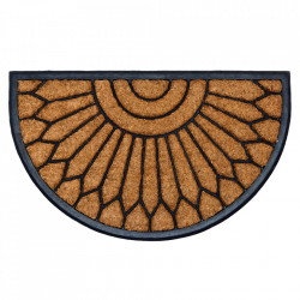 Pres oval maro din fibre de cocos pentru intrare 45x75 cm Mambo Lako