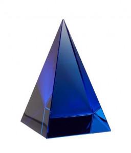Prespapier albastru din sticla Allen Hubsch