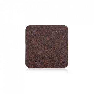Protectie masa patrata maro din pluta 19,5x19,5 cm Dark Cork Zeller