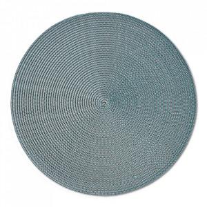 Protectie masa rotunda verde menta din polipropilena 38 cm Twist Zeller