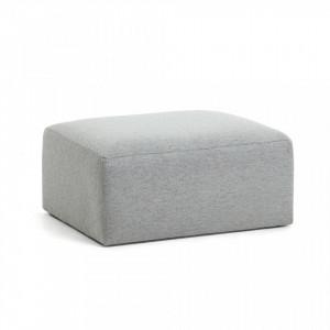Puf gri deschis 90x70 cm Blok La Forma