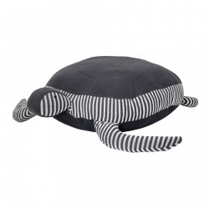Puf oval alb/negru pentru copii din bumbac 80x106 cm Turtle Bloomingville
