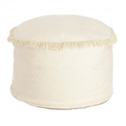 Puf rotund crem din bumbac 40 cm Verenice Kave Home