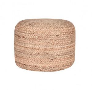 Puf rotund maro din iuta 50 cm Andy LABEL51