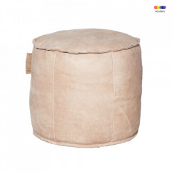 Puf rotund maro din piele 50 cm Louisiana LifeStyle Home Collection