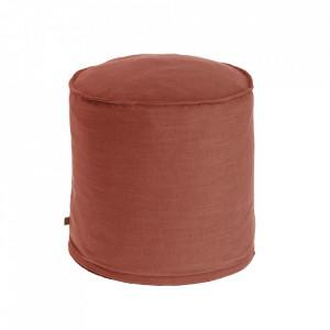 Puf rotund maro din textil 42 cm Maelina Kave Home