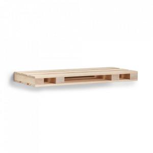 Raft maro din lemn 60 cm Palette Mini Zeller