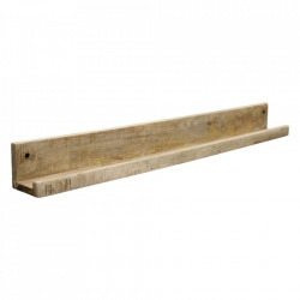 Raft maro din lemn de mango si fier 80 cm Vintage Wall Raw Materials