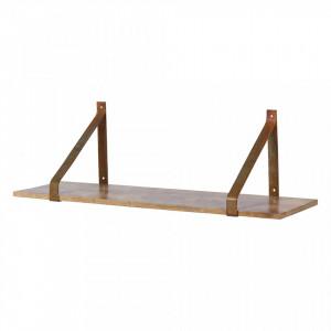 Raft maro din metal si lemn 80 cm Welldone Be Pure Home