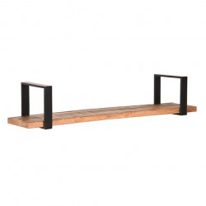 Raft negru/maro din metal si lemn 100 cm Slam LABEL51