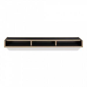 Raft negru/maro din PAL 100 cm Ply TemaHome
