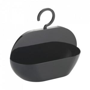 Raft pentru baie negru din plastic 26 cm Caddy Cocktail Wenko