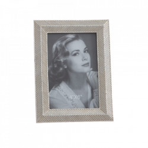 Rama foto argintie din polirasina 14x19 cm Iraklo Ixia