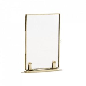 Rama foto aurie din fier si sticla 10x15 cm Stand Madam Stoltz