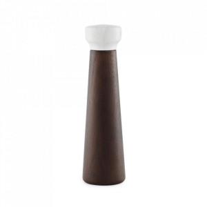 Rasnita manuala pentru sare si piper maro inchis/alba din lemn Craft Normann Copenhagen