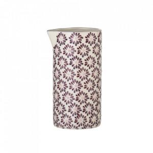 Recipient alb/mov din ceramica pentru lapte 250 ml Maya Bloomingville