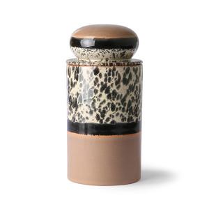 Recipient cu capac multicolor din ceramica 1 L Tropical HK Living