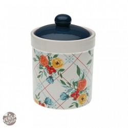 Recipient cu capac multicolor din ceramica 11x15,1 cm Kitchen Pot Fiori Viva Versa Home